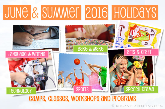 June & Summer Holiday Programs 2016