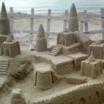 Sand Castle with steps